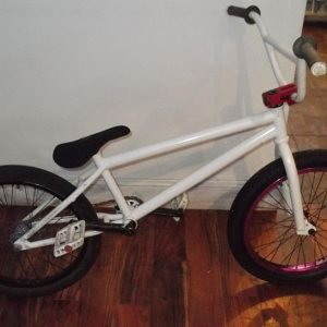 BMX FORSALE! £400 ono proper front rim (purple) custom back wheel with primo hub fit aitken frame (V