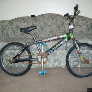 my good bike  mongoose frame     lots of extras 2 list thinking bout a rebuild this summer  its a bit rusty but still rides