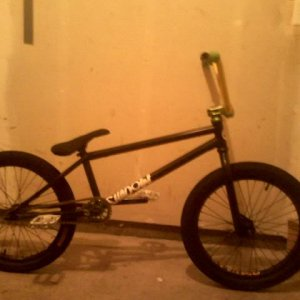traded front wheel for primo balance front wheel and bought slam bars. traded forks for pitch forks