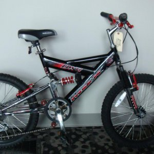 My Mongoose MGX. I wrecked it, so I took the front forks and handlebars off of it, and put them on my X Games bmx bike.