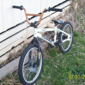 This is kinda how i got it. It had both brakes, no seat, massive sprocket and no chain or grips!