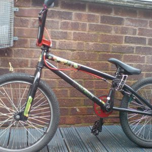 my bmx with old tyres